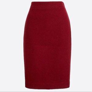 J CREW No. 2 Pencil Skirt 100% Wool